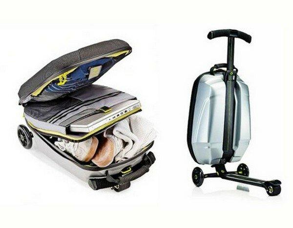 чемодан самокат 2 Чемодан самокат для активных путешественников