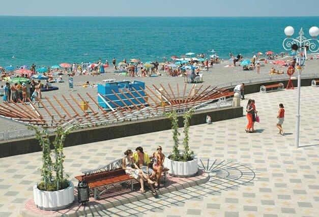 пляж в Адлере Адлер курортный городок