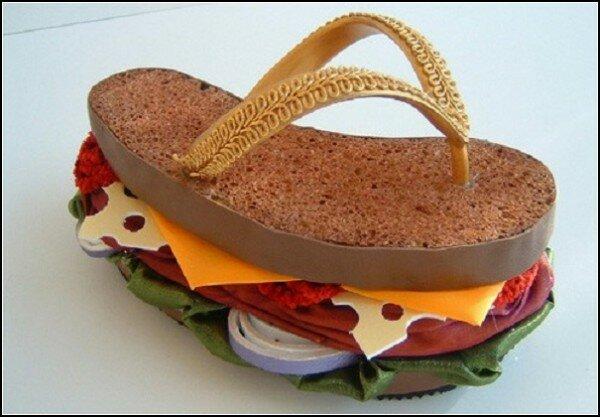 шлепанцы гамбургеры Необычные шлепанцы к летнему сезону.